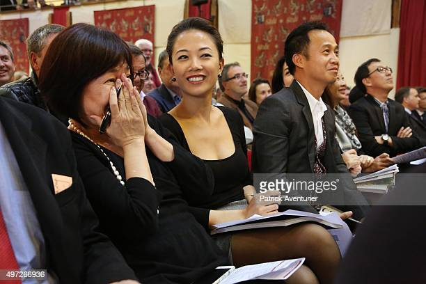 Japanese buyer at the 155th Charity Wine Auction at Hospices de Beaune on November 15 2015 in Beaune France The Hospices de Beaune charity wine...