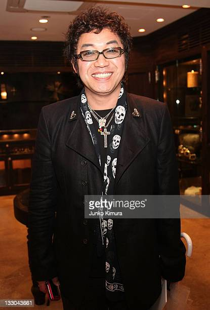 Japanese comedian Croket attend the Chrome Hearts Tokyo Flagship Renewal Event on April 24 2008 in Tokyo Japan