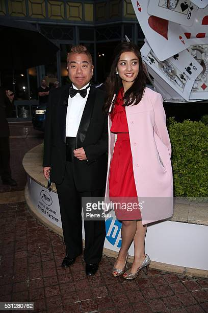 Japanese Comic Tetsuro Degawa poses at the Majestic Hotel during the 69th Annual Film Festival on May 13 2016 in Cannes