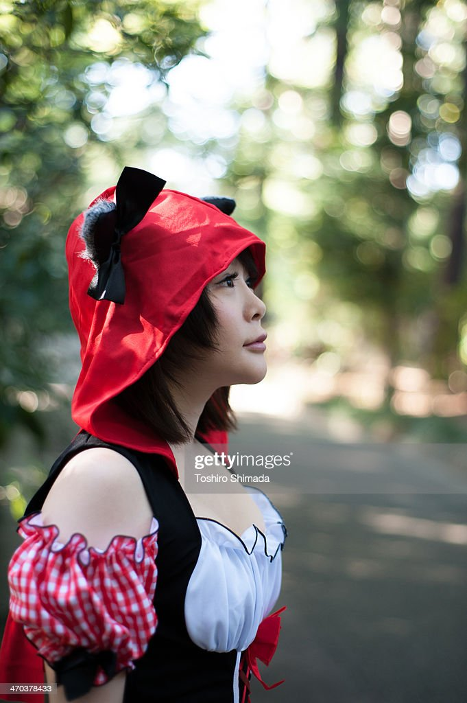 A Japanese costume player staring : Stock Photo