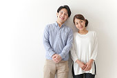 Japanese couple smiling