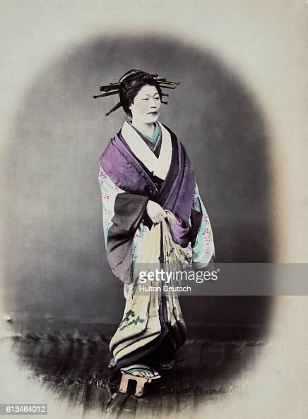Japanese Courtesan ca 1860