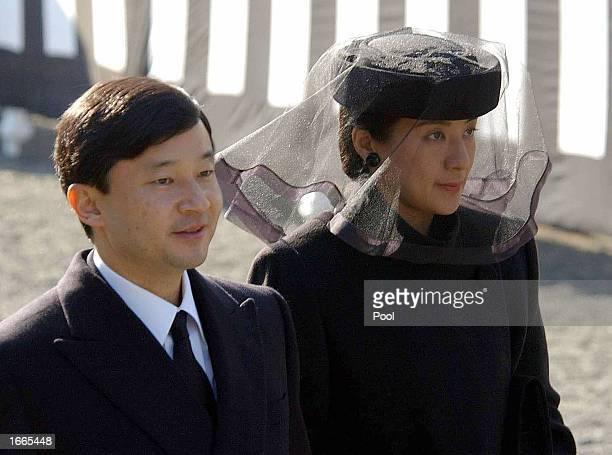 Japanese Crown Prince Naruhito and Crown Princess Masako attend the funeral of Prince Takamado cousin of Emperor Akihito at Toshimagaoka Cemetery...