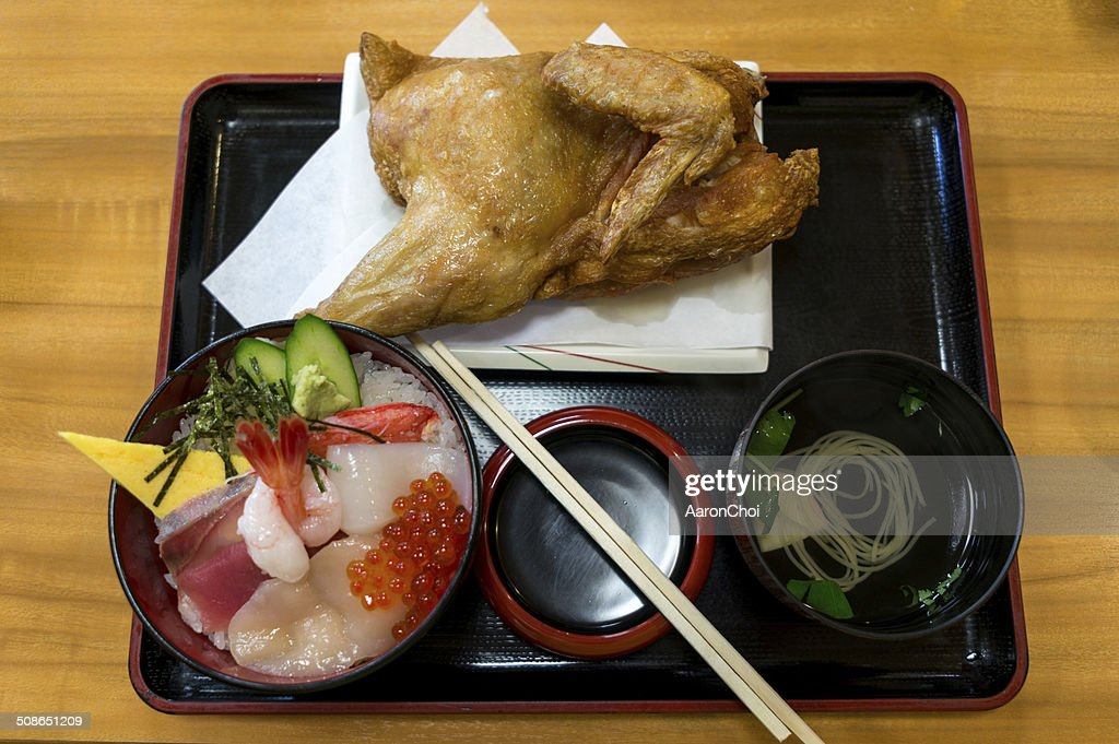 Japanese cuisine fried chicken : Stock Photo