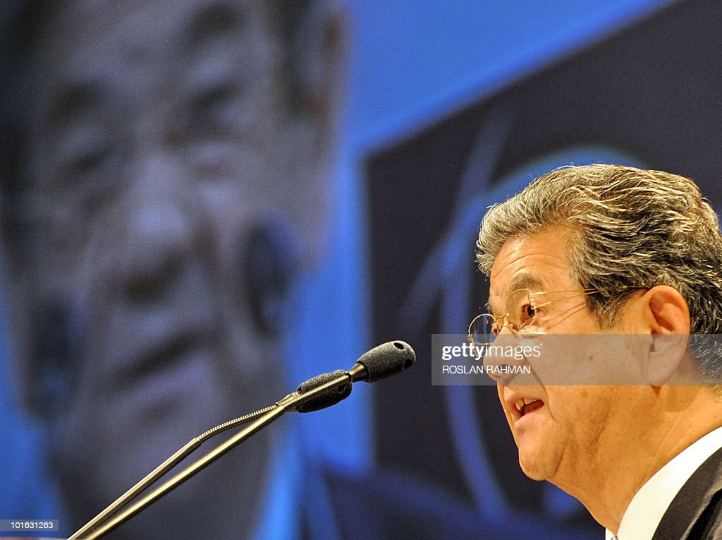Japanese Defence Minister Toshimi Kitazawa speaks at the Asia-Pacific security forum in Singapore on June 5, 2010. The United States said it was weighing fresh steps to hold North Korea to account over the sinking of a South Korean warship, after Seoul appealed for UN intervention.