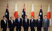 Japanese Defense Minister Itsunori Onodera Chief Cabinet Secretary Yoshihide Suga Australian Prime Minister Tony Abbott Japanese Prime Minister...