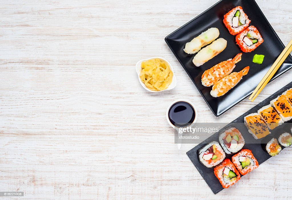 Japanese Delicacy Food with Copy Space : Foto stock