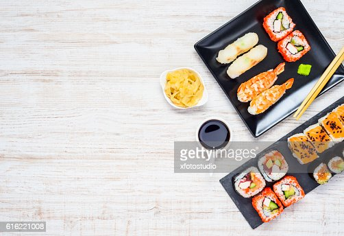 Japanese Delicacy Food with Copy Space : Stock Photo