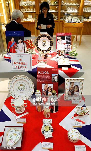 Japanese department store Takashimaya launch range to celebrate the arrival of The Duke and Duchess of Cambridge's newborn son on July 23 2013 in...