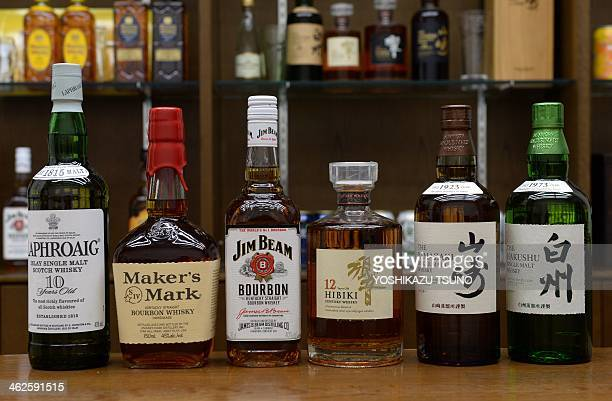 Japanese drink giant Suntory's whisky Hakushu Yamazaki Hibiki and US beverage giant Beam's bourbon whisky Jim Beam Maker's Mark scotch whisky...