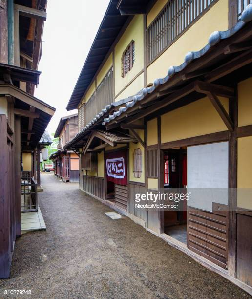 Japanese Edo village narrow street movie set at Toei Studios Kyoto
