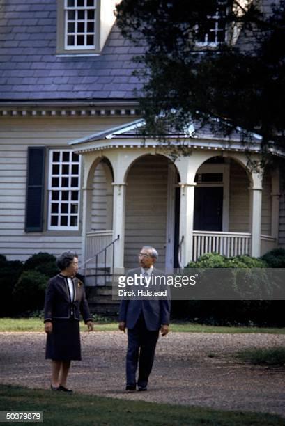Japanese Emperor Hirohito Empress Nagako prob visiting Colonial Williamsburg