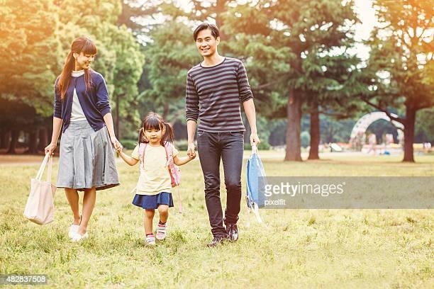 日本の家族の公園