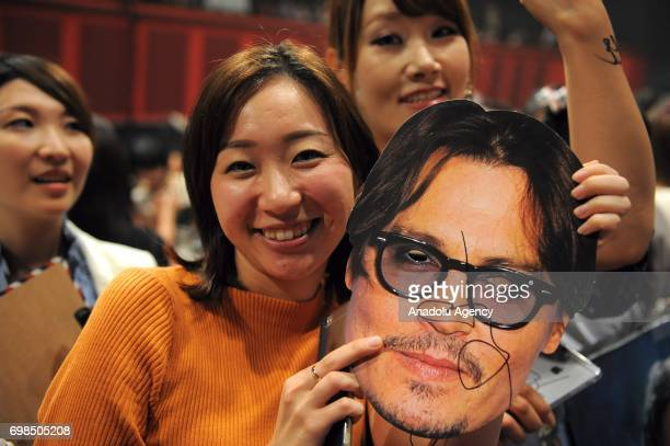 Japanese fans attend the Japan Premiere of Pirates Of Caribbean Dead Men Tell No Tales in Tokyo Japan on June 20 2017
