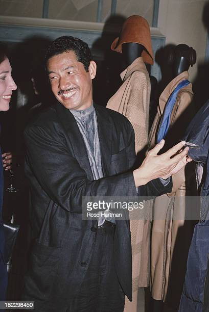 Japanese fashion designer Issey Miyake 1987
