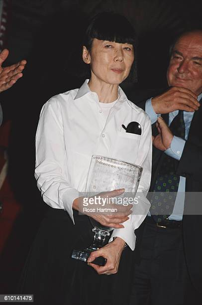 Japanese fashion designer Rei Kawakubo at the 'Idea l'Uomo' press conference at the Palazzo Vecchio in Florence Italy