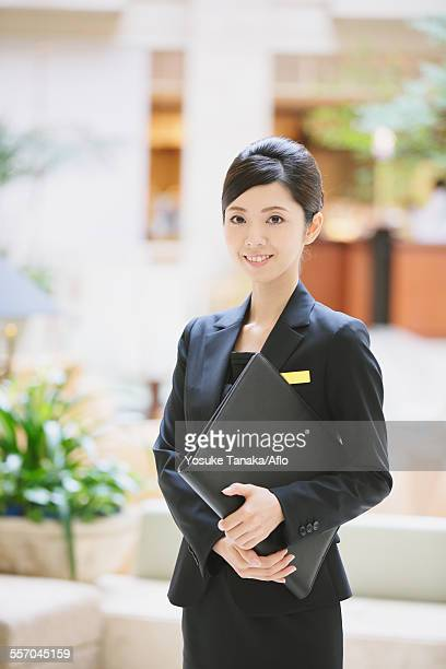 Japanese female hotel concierge