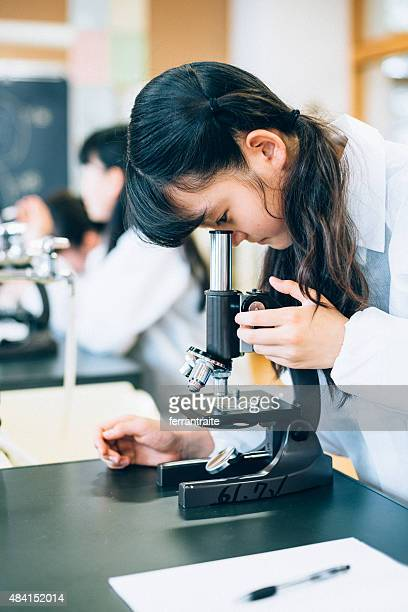 Japanese Female Student in Science Class
