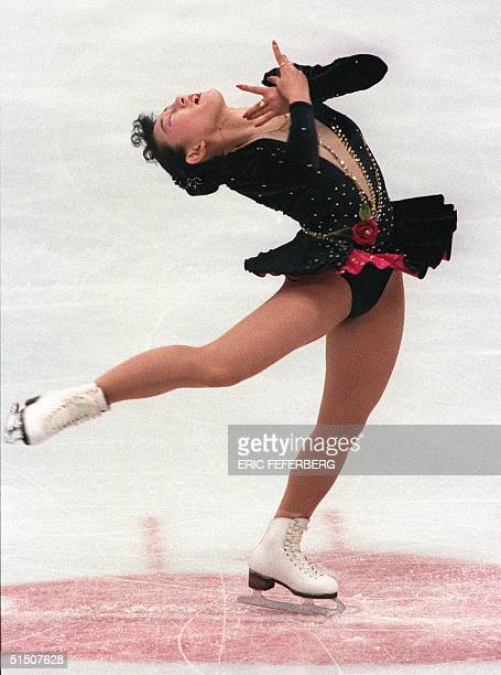 Japanese figure skater Midori Ito performs during the women's original program at the Winter Olympic Games 19 February 1992 in Albertville Kristi...