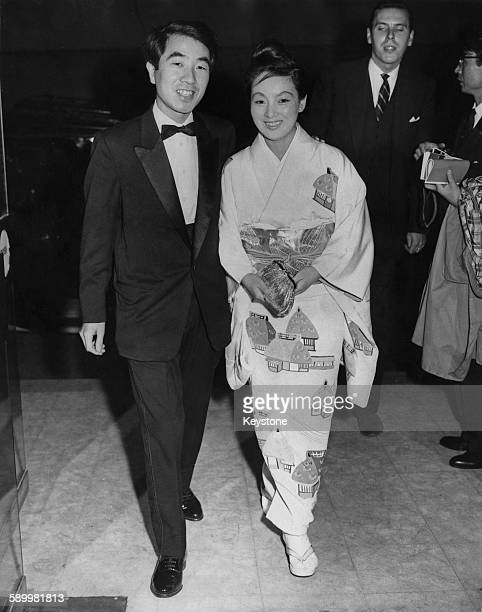 Japanese film director Susumu Hani and his wife actress Sachiko Hidari attend the London Film Festival at the National Film Theatre in London UK 21st...