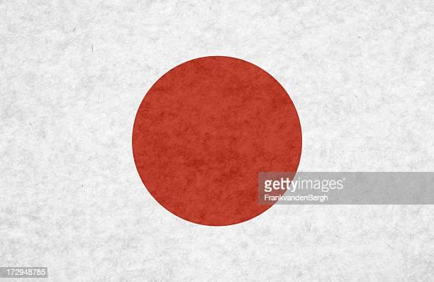 Japanese flag on mottled paper