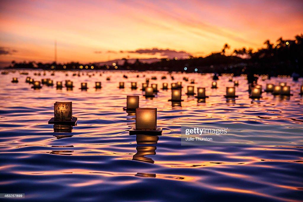 Japanese Floating Lantern : Stock Photo