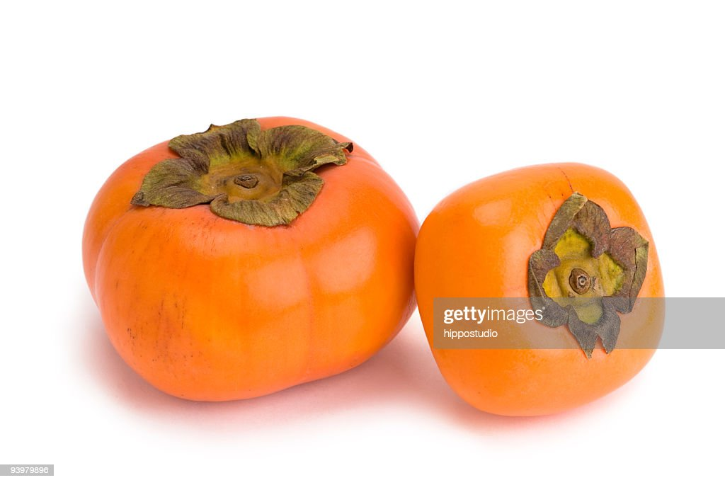 Japanese fuyu persimmon stock photo getty images for Cachi persimon