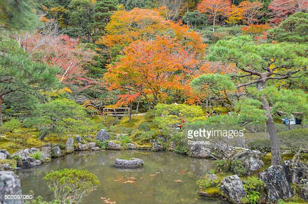 Japanese Garden at Ginkaku-ji Temple in Kyoto, Japan