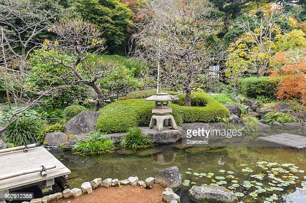 Japanese Garden at Hasedera Temple in Kamakura, Japan