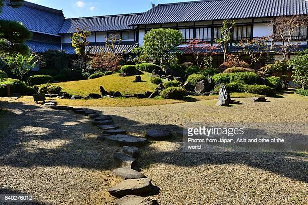 Japanese Garden at Shitenno-ji Temple, Osaka, Japan