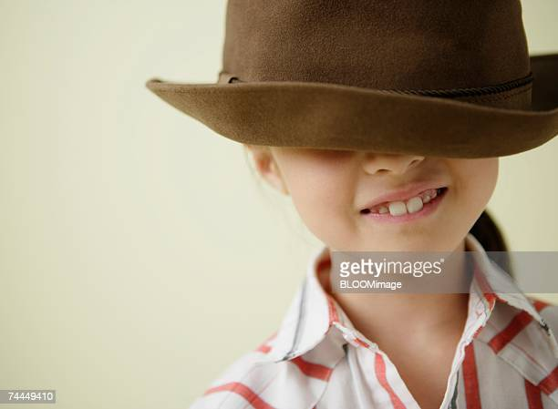 Japanese girl wearing hat with smiling ,close-up
