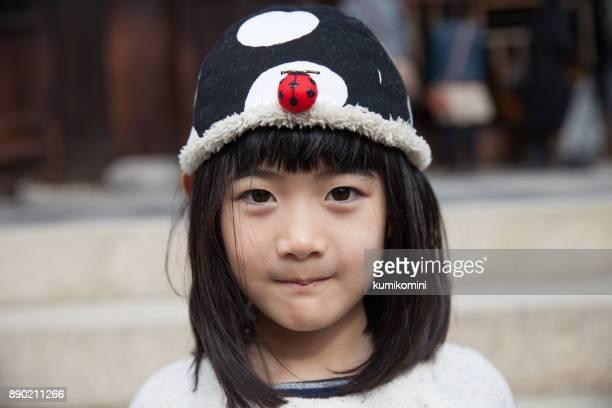 かわいいキャップが日本の女の子
