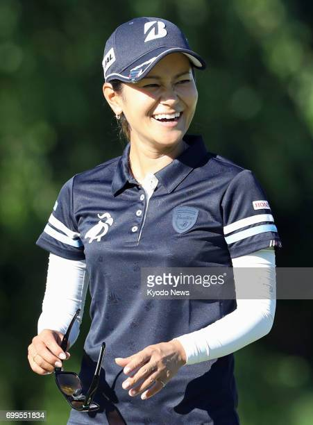 Japanese golfer Ai Miyazato is pictured during a proam round at Pinnacle Country Club in Rogers Arkansas on June 21 ahead of the Arkansas...