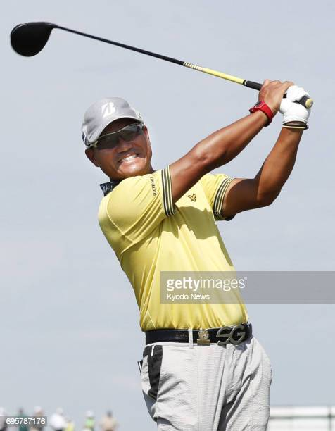 Japanese golfer Yusaku Miyazato practices for the US Open at Erin Hills in Erin Wisconsin on June 13 looking forward to putting on a muchimproved...