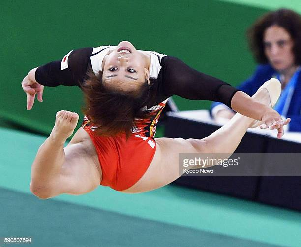 Japanese gymnast Mai Murakami performs in the women's floor final at the Rio de Janeiro Olympics on Aug 16 2016 Murakami finished seventh