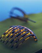 Japanese hair accessories, Close Up, High Angle View, Differential Focus, Toned Image