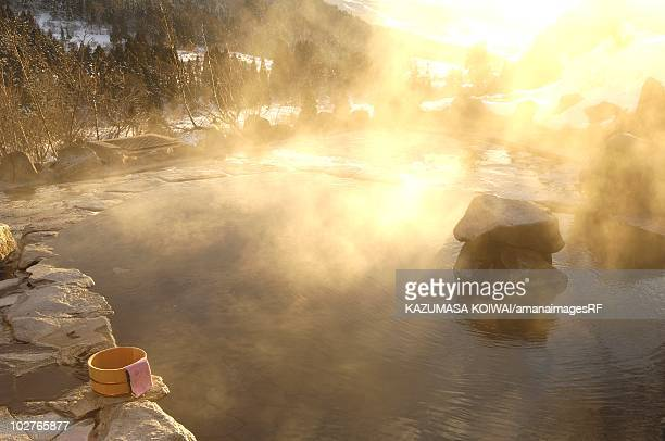 Japanese hot spring, Myoko, Niigata Prefecture, Japan