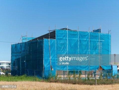 Casa in costruzione giapponese : Foto stock