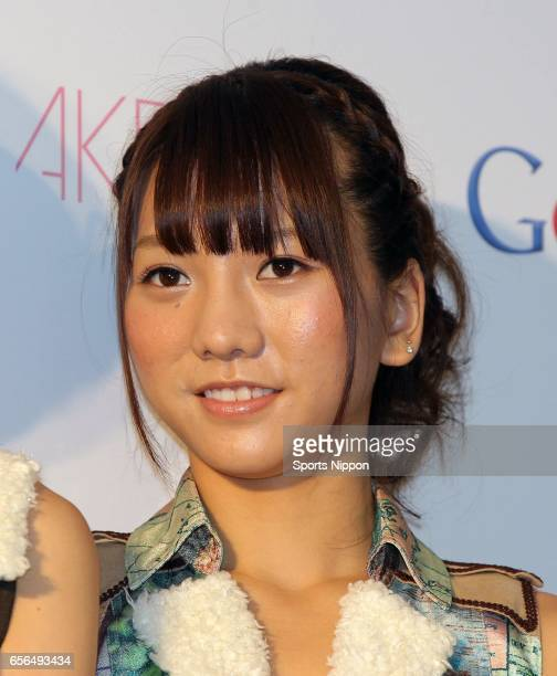 Japanese idol Aki Takajo of AKB 48 attends the Google press conference on December 8 2011 in Tokyo Japan