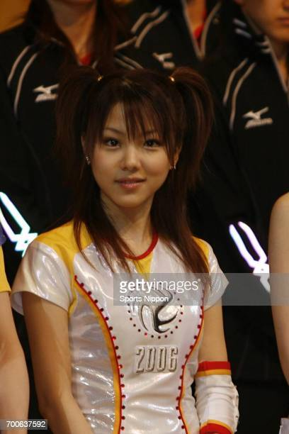 Japanese idol Reina Tanaka of Morning Musume attends the FIVB World Championships 2006 / Japan as an official supporter on October 26 2006 in Tokyo...