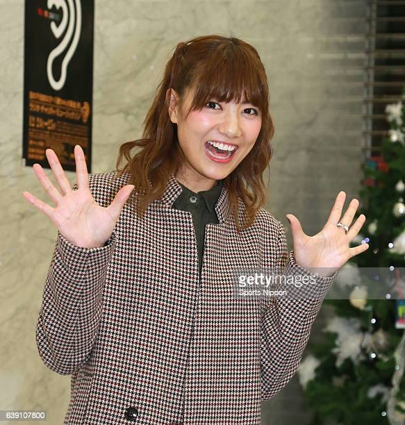 Japanese idol Sae Miyazawa of SKE 48/SNH 48 officially announces her graduation from AKB48 group at a press conference during the FNS Kayousai on...