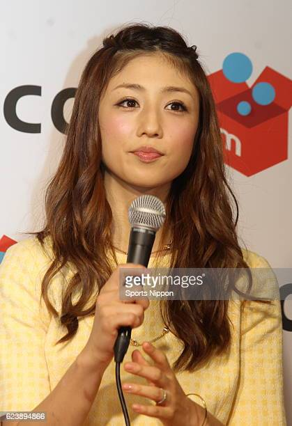 Japanese idol Yuko Ogura attends the Mercarifleamarket promotional event on May 17 2015 in Tokyo Japan