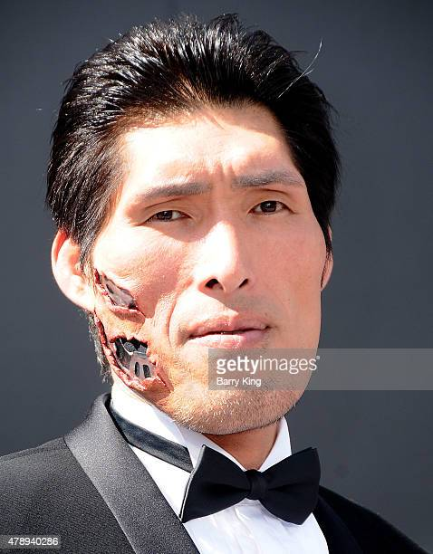 Japanese Judo Gold Medalist Shinichi Shinohara arrives at the Los Angeles Premiere Of 'Terminator Genisys' at the Dolby Theatre on June 28 2015 in...