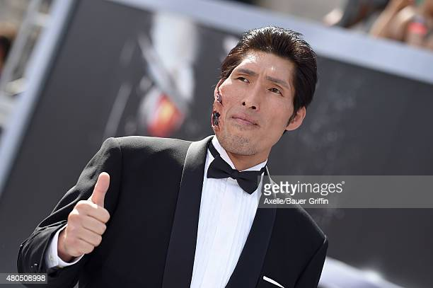 Japanese Judo Gold Medalist Shinichi Shinohara arrives at the Los Angeles premiere of 'Terminator Genisys' at Dolby Theatre on June 28 2015 in...