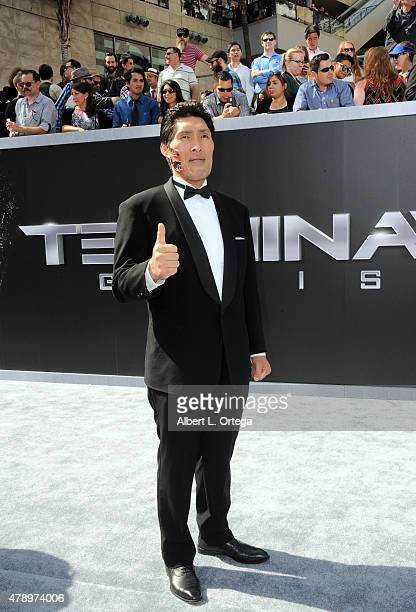 Japanese Judo Gold Medalist Shinichi Shinohara arrives for the Premiere Of Paramount Pictures' 'Terminator Genisys' held at Dolby Theatre on June 28...