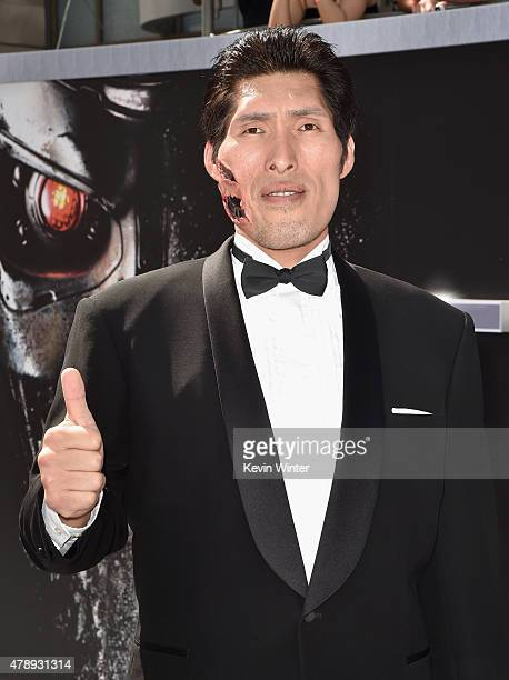 Japanese Judo gold medalist Shinichi Shinohara attends the LA Premiere of Paramount Pictures' 'Terminator Genisys' at the Dolby Theatre on June 28...