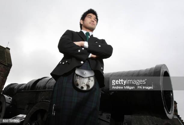 Japanese judo star Kosei Inoue during a visit to Edinburgh Castle Scotland
