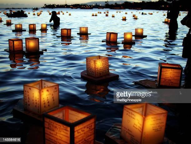 Japanese lantern floating ceremony