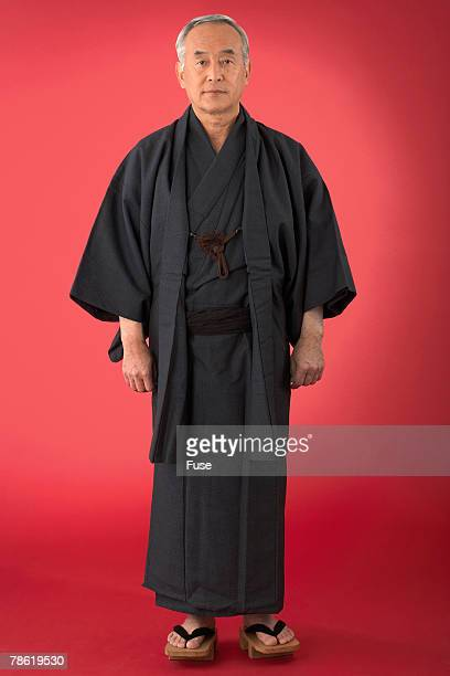 Japanese Man in Traditional Costume