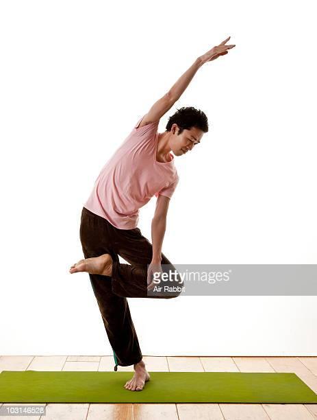 Japanese Man in Yoga Pose
